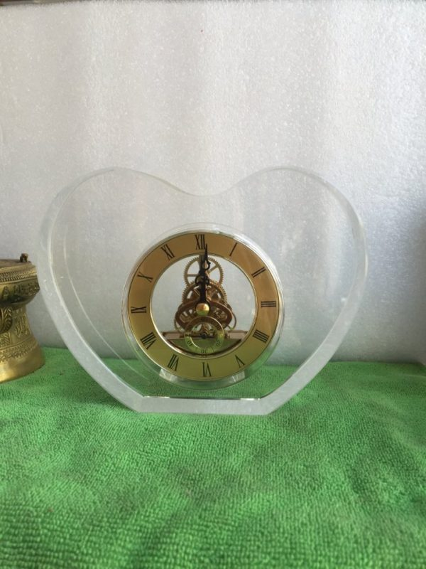 Biểu trưng Pha lê gắn đồng hồ - BTPLĐH 020