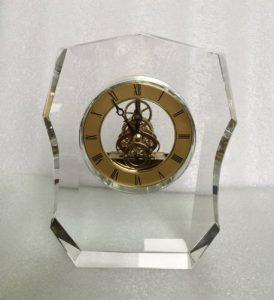 Biểu trưng Pha lê gắn đồng hồ - BTPLĐH 04
