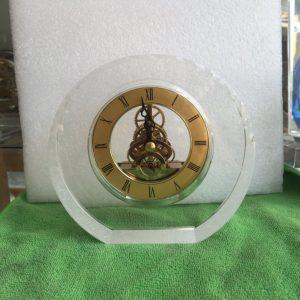 Biểu trưng Pha lê gắn đồng hồ - BTPLĐH 016