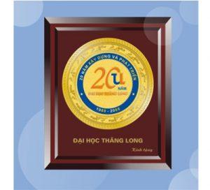 Kỷ niệm chương gỗ đồng - KNC 016
