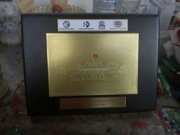 Kỷ niệm chương gỗ đồng - KNC 017
