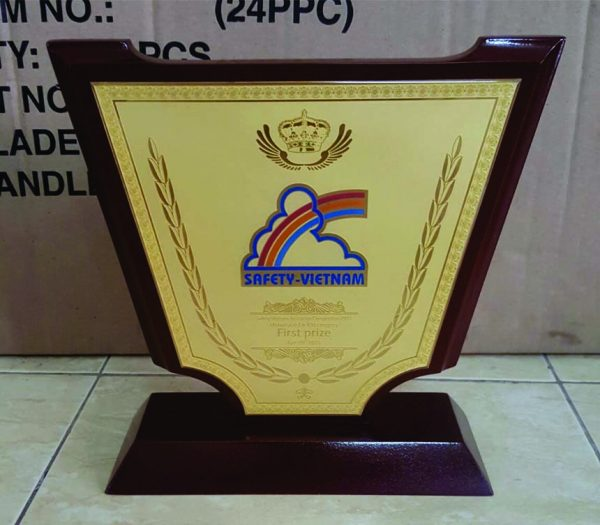 Kỷ niệm chương gỗ đồng - KNC 019